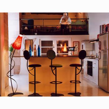 Sieges de bar Jet Orphea, Design Cyrille Varet
